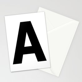 Letter A (Black & White) Stationery Cards