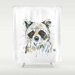 Peekaboo Raccoon Shower Curtain