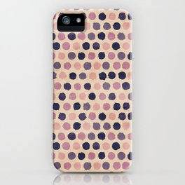 Watercolor funky retro pattern iPhone Case