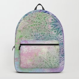star mandala in rays of color Backpack