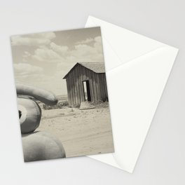 abandoned dust house with ojolo Stationery Cards