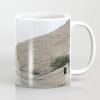 palestine Mugs featuring Jordan Valley Palestine by Sanchez Grande