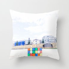 The Cube at Maroubra Beach Throw Pillow