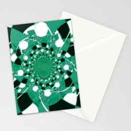 green checkers Stationery Cards