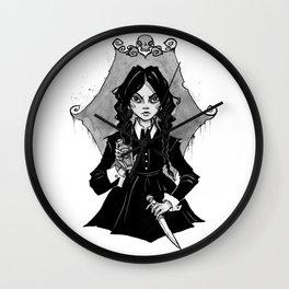Inktober The Addams family Wall Clock
