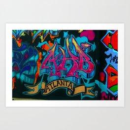 ATL Graffiti Art Print