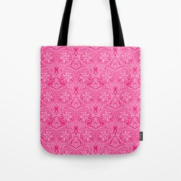 Floral Mandala in Pink Tote Bag