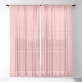 Bubblegum Pink Sheer Curtain