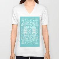 aztec V-neck T-shirts featuring aztec by 12laurec