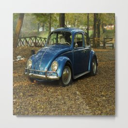 blue car Metal Print