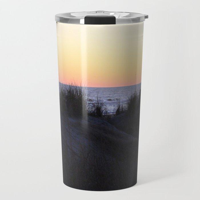 Sunset Over The Dunes Travel Mug
