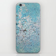 Cracked Wall Texture Blue iPhone & iPod Skin