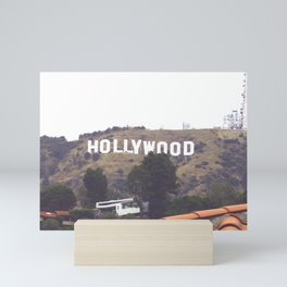 Rooftop Hollywood Sign View Mini Art Print