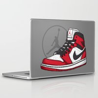 chicago bulls Laptop & iPad Skins featuring Jordan 1 OG (Chicago) by Pancho the Macho