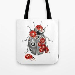 Siege of ladybugs Tote Bag