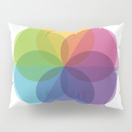 Fig. 012 Geometric Circles and Triangles Pillow Sham