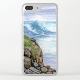 Cliff By The Sea Clear iPhone Case
