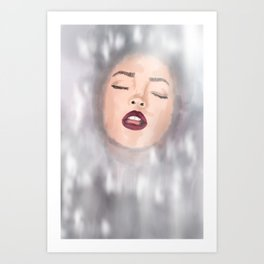 Girl in Water Art Print