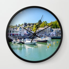 Padstow - Yacht in Harbour Wall Clock