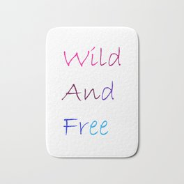 Wild And Free Bath Mat