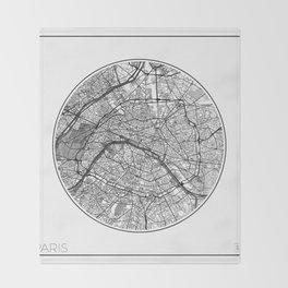 Paris Map Universe Throw Blanket