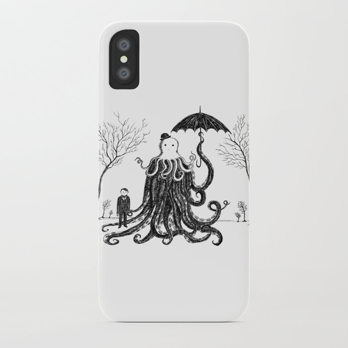 Young Master Lovecraft Finds A Friend iPhone Case