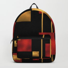 Red and Gold Foil Blocks Backpack