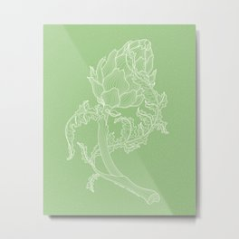 Artichoke. Easy Line Metal Print