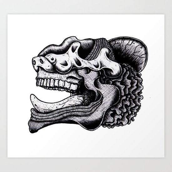 Illustration of a Ghost Art Print