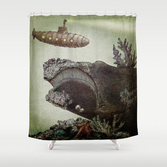 Leviathan (colour option) Shower Curtain