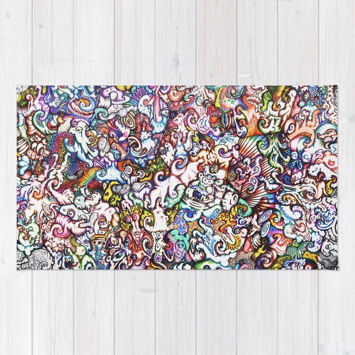 """""""Silliness"""" by RenPenCreations Rug"""