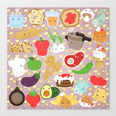 Cute food Canvas Print