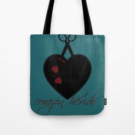 corazon herido Tote Bag