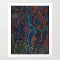 Equilibrists #2, etching, 1995 Art Print