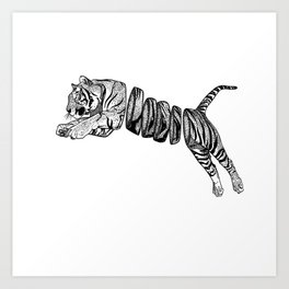Sliced Tigger Art Print