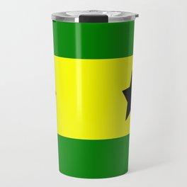 Flag of São Tomé and Príncipe Travel Mug