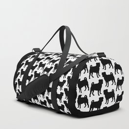 Simple Pug Silhouette Duffle Bag