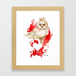 Coquette - queen of hearts Framed Art Print