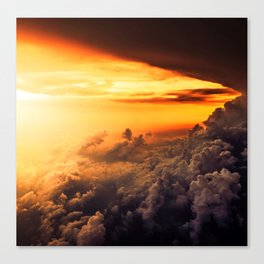 Thunder Clouds at Sunset - Spectacular Nature Photography Canvas Print