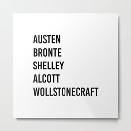 WOMEN OF CLASSICS (WHITE) Metal Print