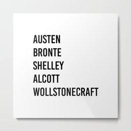 WOMEN OF CLASSICS (WHITE) Metal Print