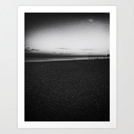 Sunset black and white photography Art Print