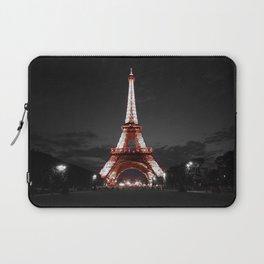 Paris Eiffel Tower Pink Night Laptop Sleeve