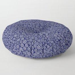 Indigo Spirals Floor Pillow