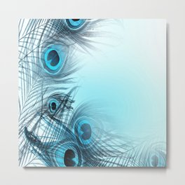 Feathery background Metal Print