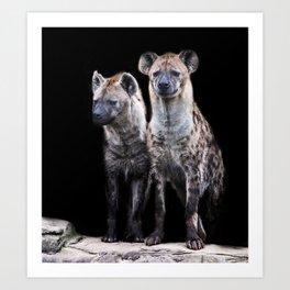 Hyenas Art Print