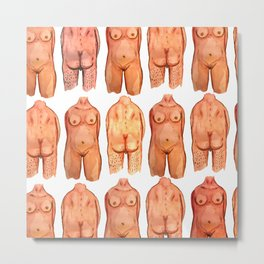 naked bodys Metal Print