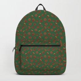 Acorns on Green Backpack