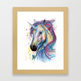 Whimsical Unicorn Framed Art Print
