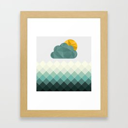 Sea Polygons Framed Art Print
